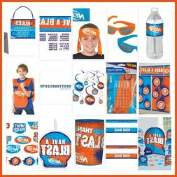 NERF Birthday Party Decorations Wall Backdrop Cutouts Vest P