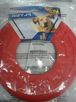 "Nerf Flyer Atomic 10"" Frisbee Dog Toy Rubber Disc Large Gree"