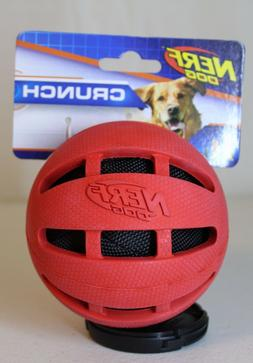 ***NEW*** Nerf Dog Checker Crunch Ball, Red 3.8 in.