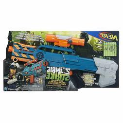NEW Nerf Gun Zombie Strike ZED Squad Longshot CS-12 Blaster