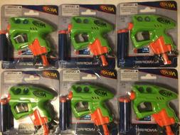 NEW Lot of 6 NERF Green NANOFIRE Guns Blasters w/ 18 Elite D