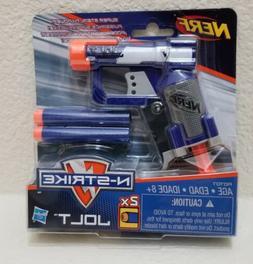 New! NERF N-STRIKE JOLT Blaster Toy Gun w/ 2 Elite Darts & C