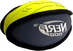 PRO 7in Tuff Rubber - Nylon Plush Football - Green/Gray Dog