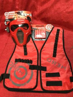 Red Rival Face Tactical & Vest - Dart Gun Game kids Toy Outd
