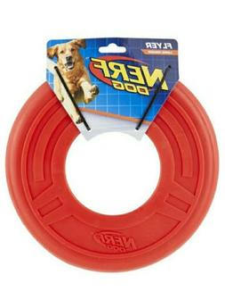 Nerf Dog Rubber Flying Large Disc Red  9.75 Inches