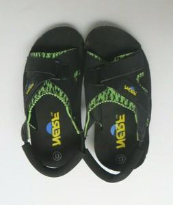Nerf Sandals Boys Youth Size 13 Black Green Neoprene Slide S