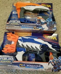 Set of 2 Nerf Alien Menace Voidcaster Ravager NEW