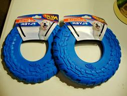 Set Of 2 NERF SMALL & PUPPY DOG Flyer Frisbee Disc Heavy Dut