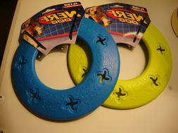 Set Of 2 NERF DOG TOY Flyer Frisbee Disc Heavy Duty Large BL
