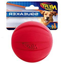 Nerf Dog Squeak Rubbber Ball Dog Toy, Medium/Large, Red