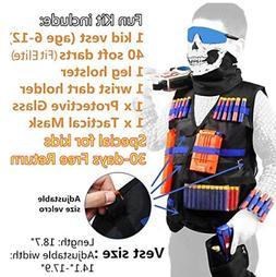 Tactical Vest Kit Compatible for Nerf Guns for Boys N-Elite
