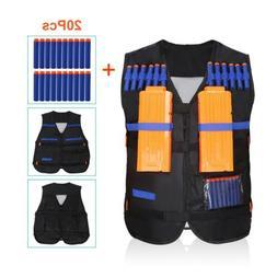 Tactical Vest Kids +20x Foam Bullet For Nerf Toy Gun Clip Ja