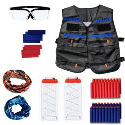 Tactical Vest Kit for Nerf Guns, Includes Red/Blue Team Indi