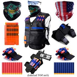 Gifts2U Tactical Vest Kit Compatible with Nerf Guns N-Strike