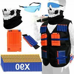 NERF TACTICAL VEST Kit Boys Game Gun Strike Foam Darts Mask