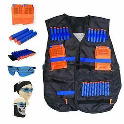 Tactical Vest Kit for Nerf N-Strike Elite w/ Darts, 2 Magazi