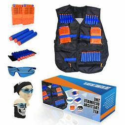 Tactical Vest Kit for Nerf N-Strike Elite w/40 Darts, 2 Maga
