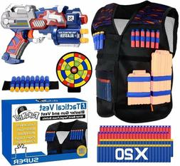 POKONBOY Tactical Vest Kits Compatible with Nerf blaster NSt