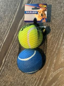Nerf Dog Tennis Balls Squeakers Chew Toys 2 Pack For Large D
