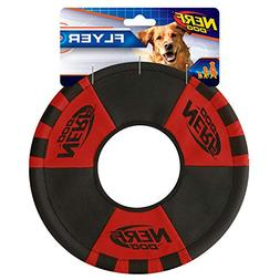 9inch Trackshot Toss and Tug Ring, Red/Balck, Dog Toy by Ner