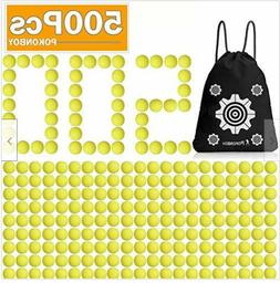 Upgraded 500-Round Balls Refill Pack Compatible with Nerf Ri