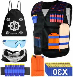 POKONBOY Upgraded Kids Tactical Vest Kit Compatible with Ner