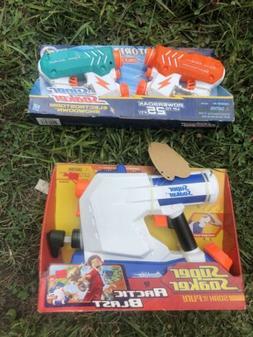 Vintage White Blue Super Soaker Artic Blast Squirt Gun Nerf