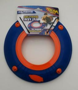 Nerf Dog Whistler Whistling Flyer Disc Plastic Blue Orange