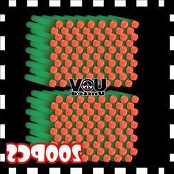 White Glow 200PCS Refill Bullet Darts for Nerf toy Gun N-str