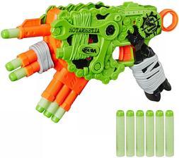 Nerf Zombie Strike Alternator Blaster Toy Gun w/ 12 Elite Da