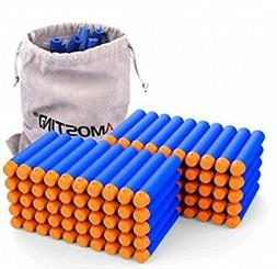 AMOSTING Zombie Strike Bullets Foam Bullets 100Pcs Foam Dart
