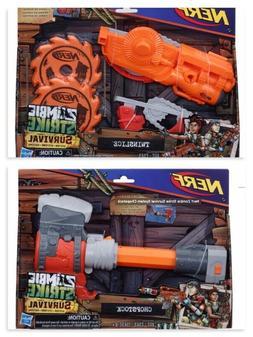 Nerf Hasbro Zombie Strike Survival Chopstock and Twinslice K